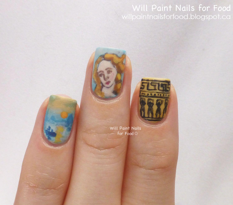 History of nail art images nail art and nail design ideas art history nail art botticelli venus greek pottery monet art history nail art botticelli venus greek prinsesfo Images