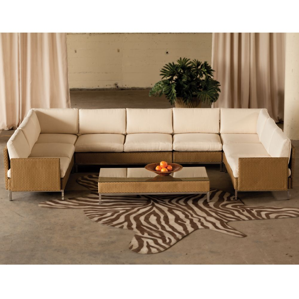 The Elements U-Shaped Sectional from Lloyd Flanders offers a blend ...