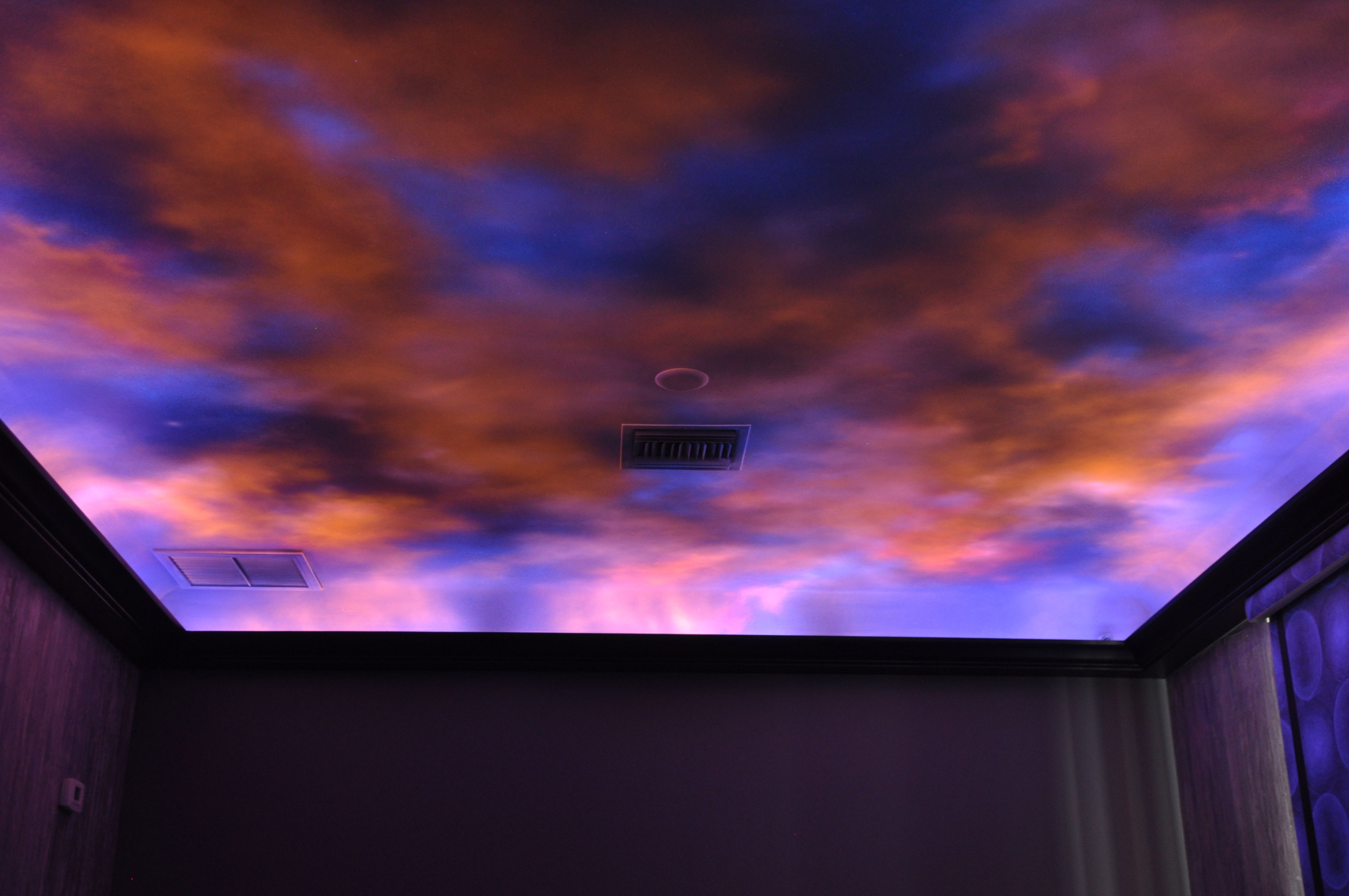 Turn your rooms into a far away galaxy or just go crazy with your turn your rooms into a far away galaxy or just go crazy with your imagination a custom painted black light ceiling and walls is the talk of any home aloadofball Images