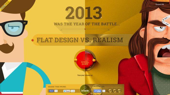 Flat Design versus Realism