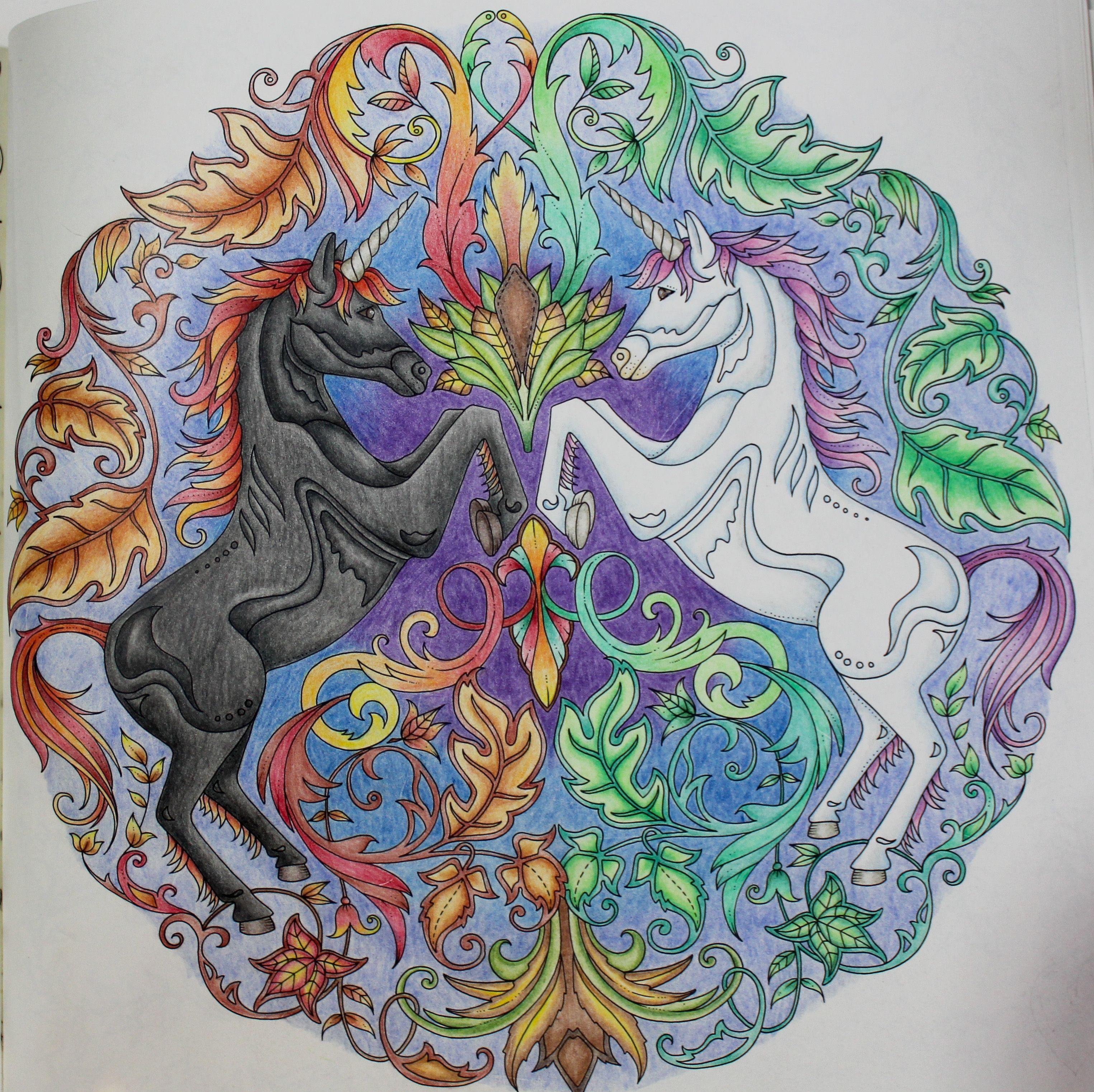 Johanna Basford - Enchanted Forest unicorns