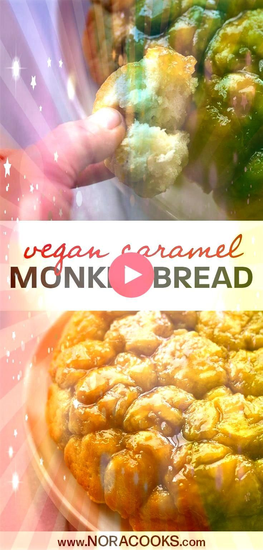 Caramel Monkey Bread Gooey sweet fluffy homemade pull apart bread with   Unverträglichkeiten Vegan Caramel Monkey Bread Gooey sweet fluffy homemade pull apart bread...
