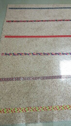 Duct tape on carpet for seating in Kindergarten. **matches tables and workstation boxes