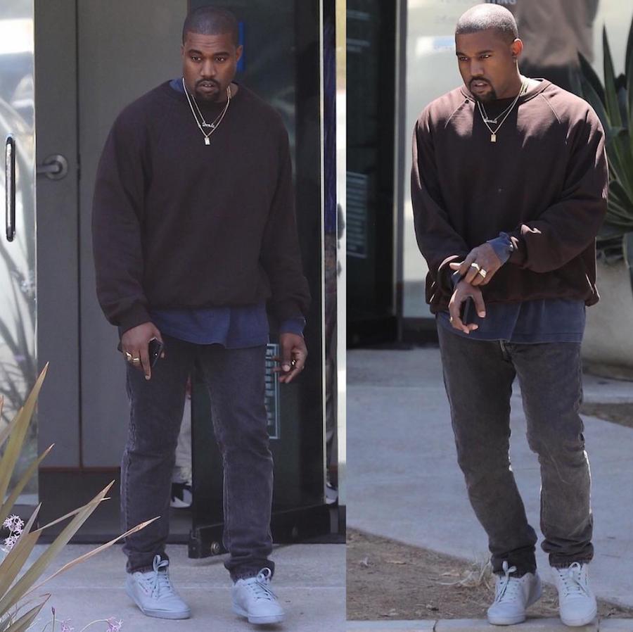 Kanye West Wears Adidas Yeezy Powerphase In Tonal Grey Sneakers Shoes Kicks Jordan Lebron Nba Nike Adidas Re Dress Shoes Womens Grey Adidas Kanye West