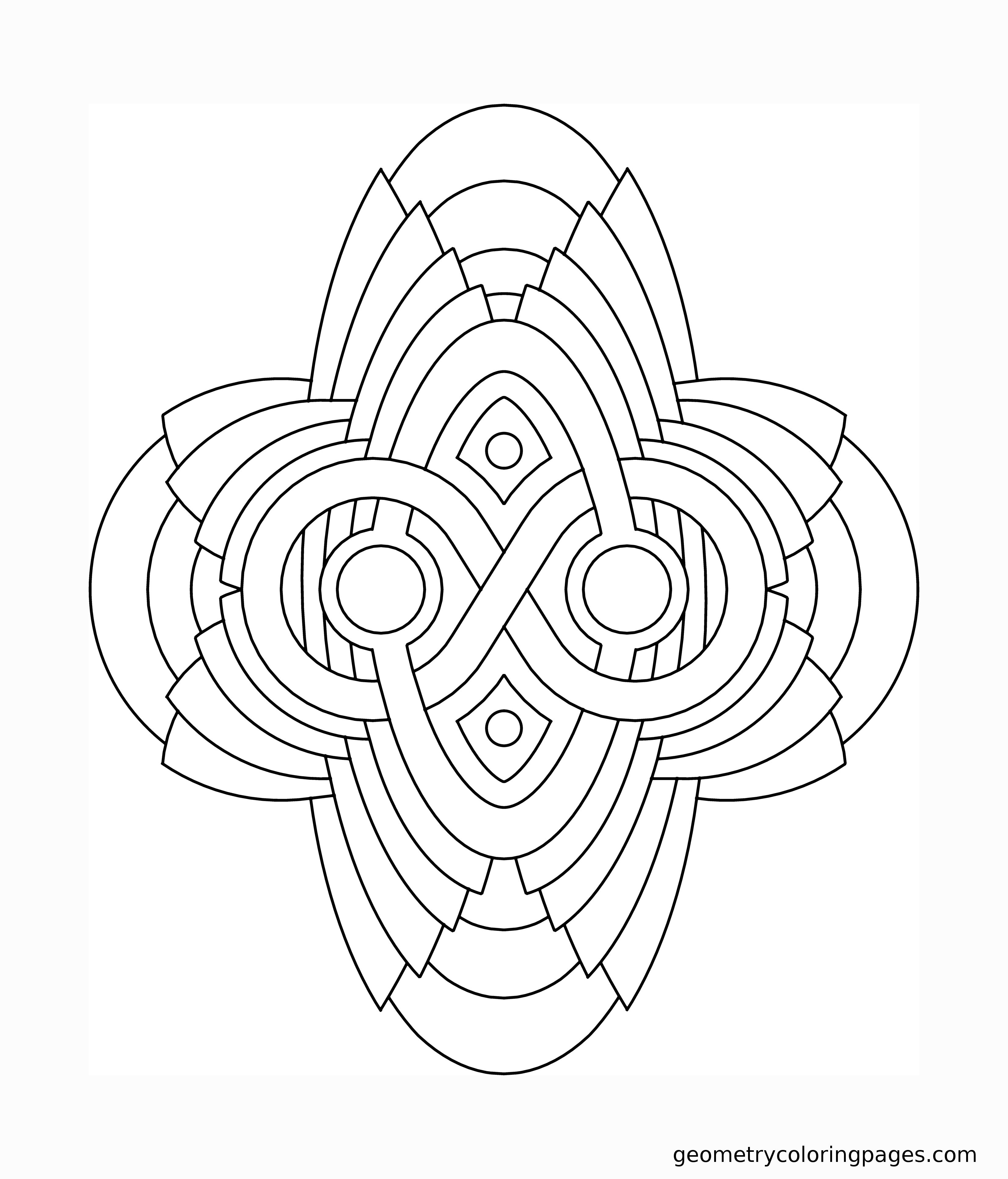 Geometry Coloring Page Artifact