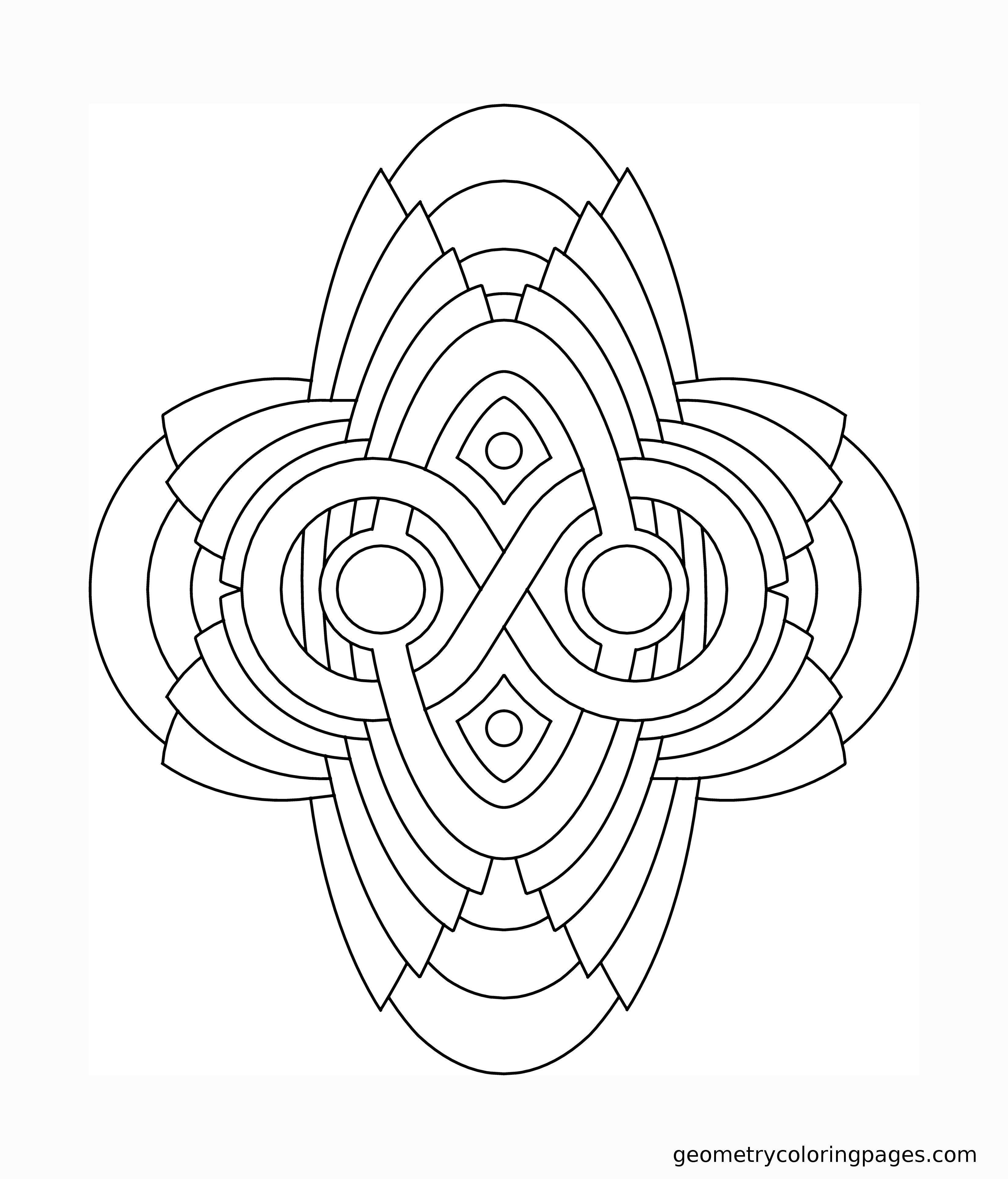 Geometry Coloring Page Artifact