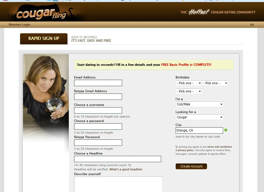 Cougar online dating sites