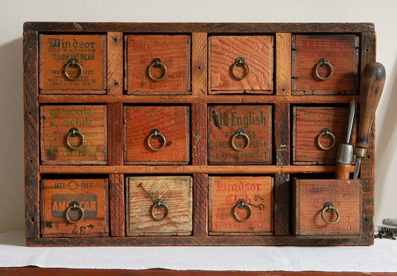 Multi Drawer Apothecary Cabinet Or Desk Organizer From Repurposed