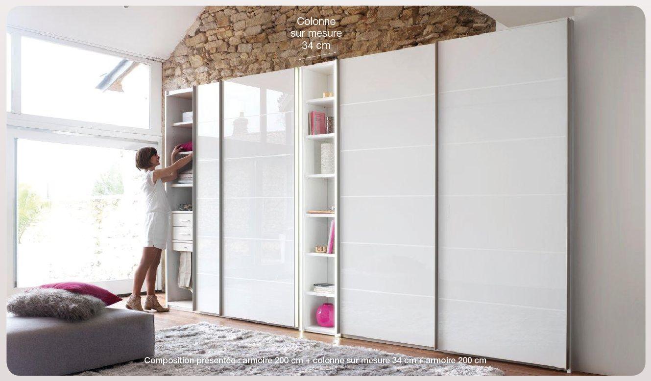 Profondeur D Un Placard Dressing armoire colonne loft : placard colonne   meubles célio