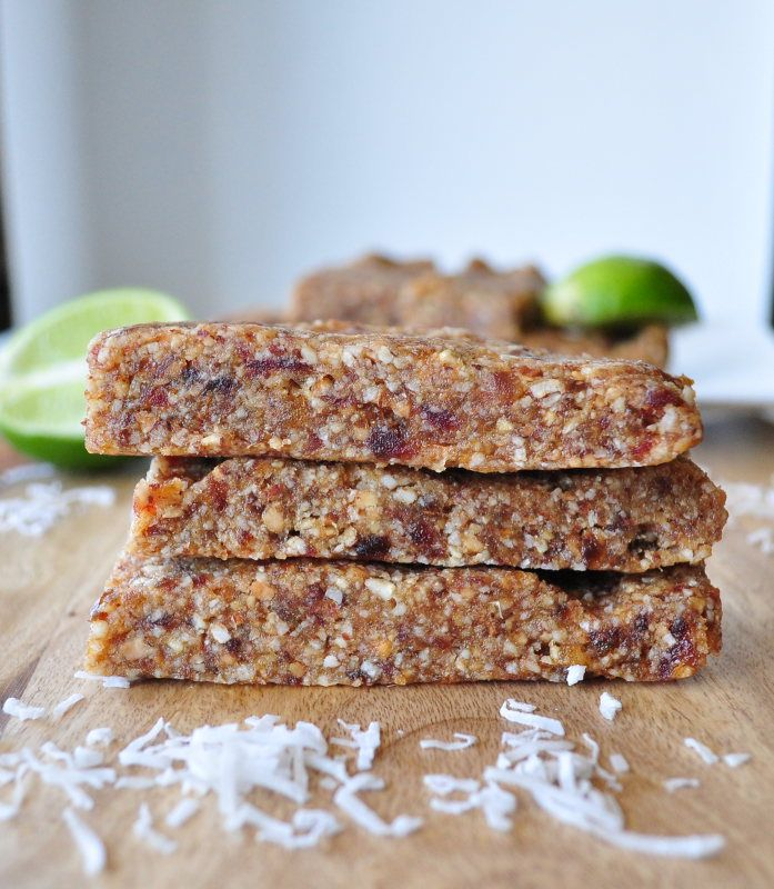Key Lime Pie Larabars.  Make them in five minutes.  Way better than store bought!  Vegan and gluten free.