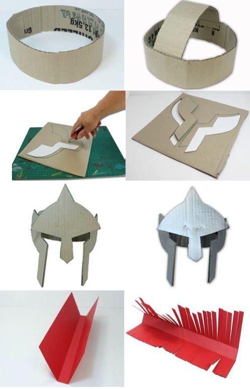 Como hacer un casco de gladiador con carton | disfresa | Pinterest ...