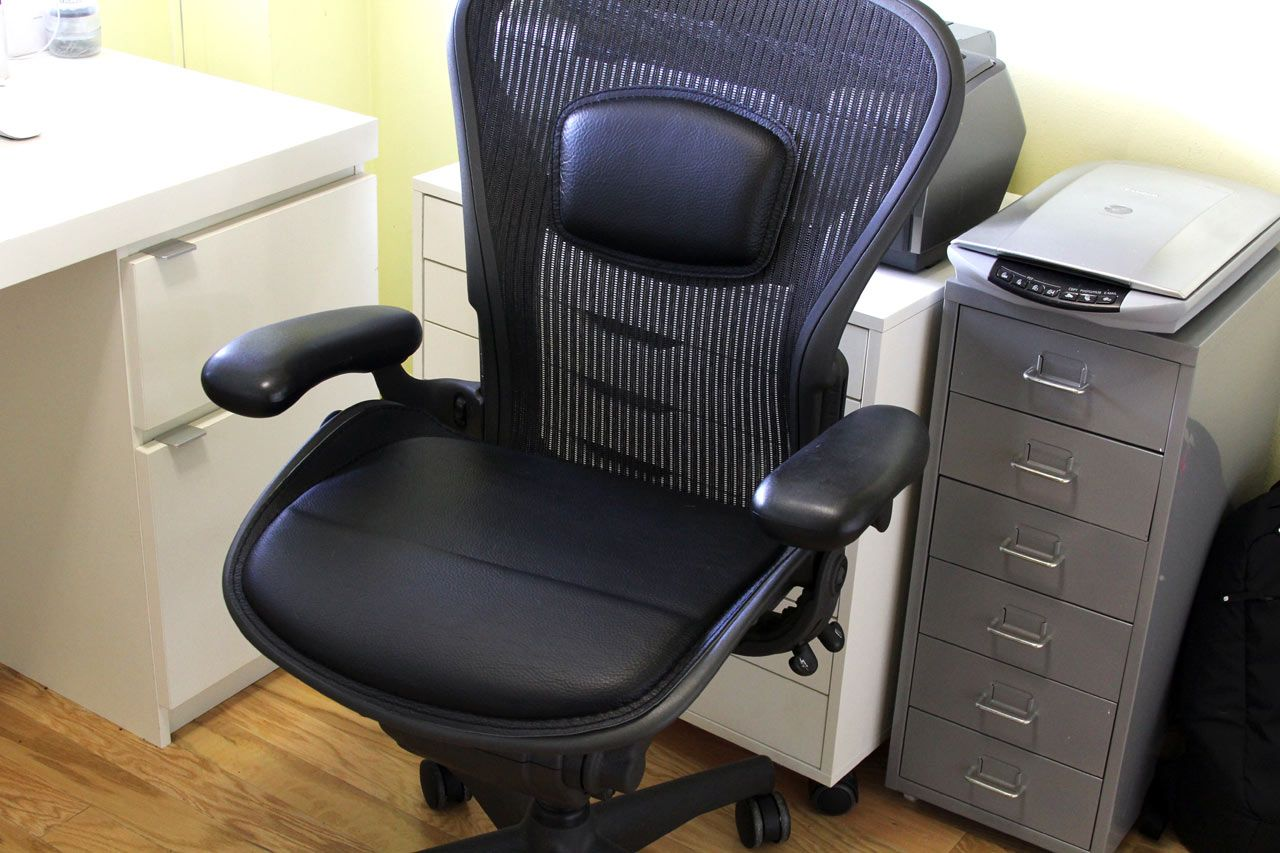 Horse Saddle Office Chair Dark Green Recliner Can The Aeron Be Improved With Seat Cushions