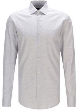 c9f7145b6 HUGO BOSS Yarn-Dyed Cotton Oxford Dress Shirt, Slim Fit Ismo 15.5 Grey