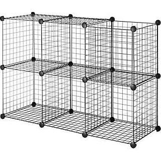 Whitmor Wire Storage Cubes Black 6 Set Cube Storage Wire Storage Wire Storage Shelves