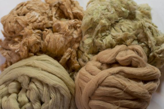 Colored Cotton Spinning Fiber Sampler Pack by MielkesFiberArts