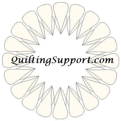 (7) Name: 'Quilting : FREE Petal Wreath 2 Line Quilting