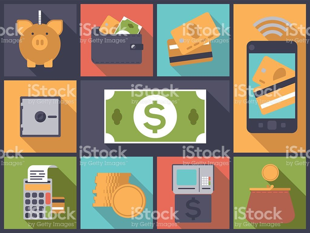 個人金融フラットデザインアイコン ベクトル イラスト ロイヤリティフリーのイラスト素材 Flat Design Illustration Illustration Design Finance Icons