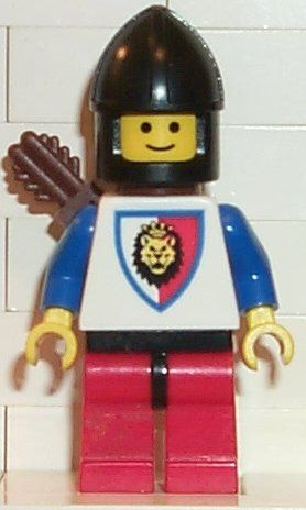 LEGO Minifig Black HELMET with Chin Protector Castle Knights Kingdom