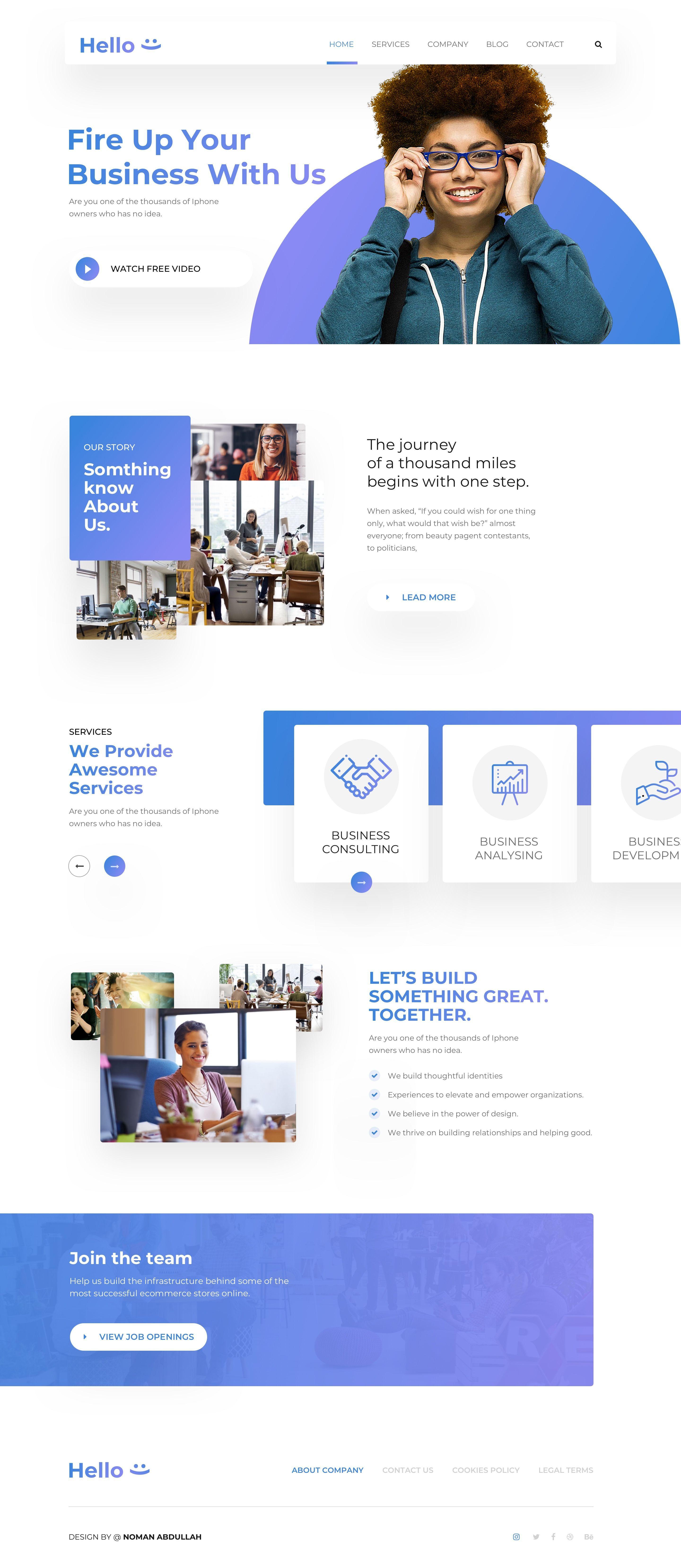 Hello Home Page Landingpage Wordpress Website Design Website Design Layout Web Development Design