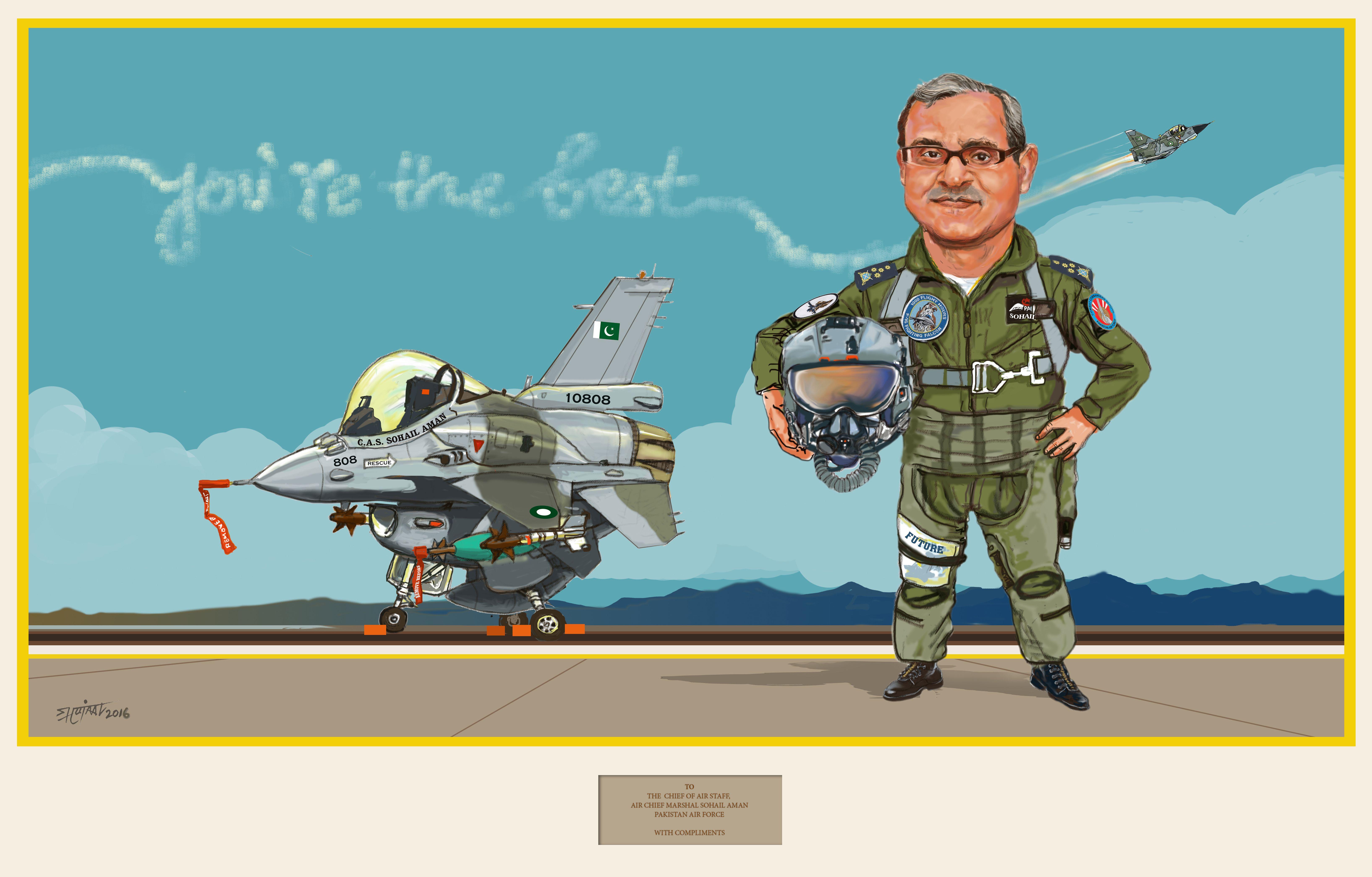 Aviation Caricatures/CAS ( r) Sohail Aman/ Pakistan Air