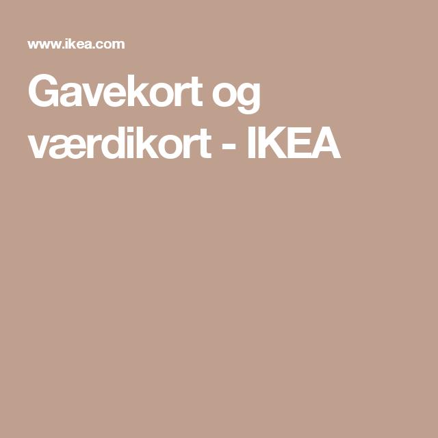 Gavekort og værdikort - IKEA
