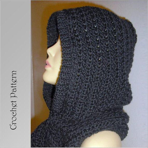 Hooded Scarf Crochet Pattern , Automatic Download | Patrón de ...