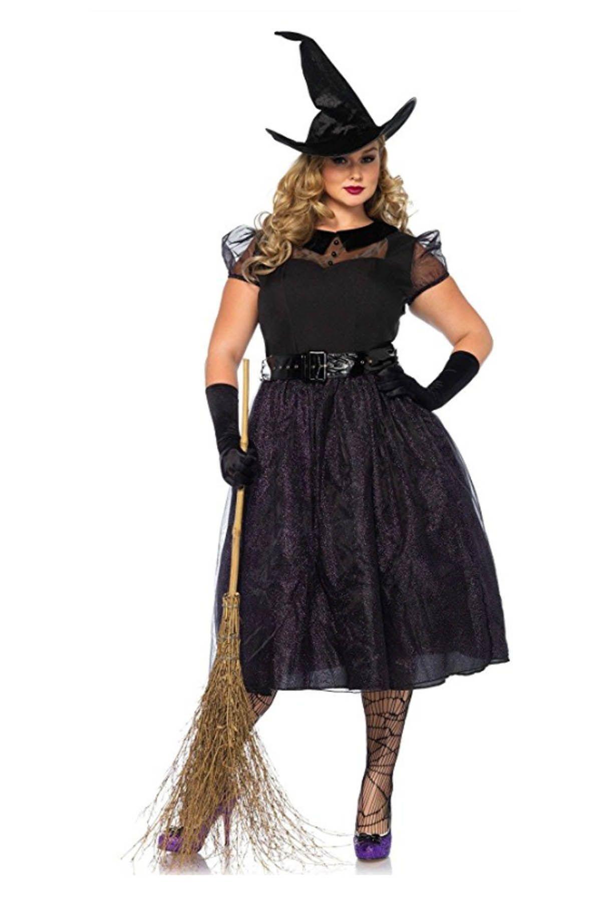 black witch dress plus size