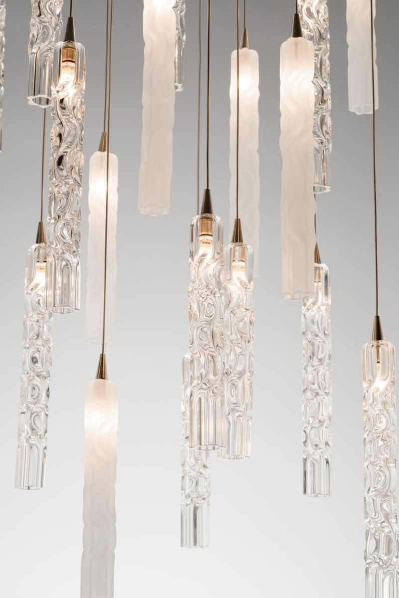 modern stairwell lighting. TWIST CUSTOM BLOWN GLASS CHANDELIER Modern Contemporary Custom Glass Lighting Perfect For Your Entryway / Foyer, Stairwell, Living Room, Dining Stairwell O