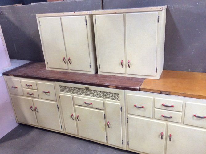 Such A Cool, Little Vintage Kitchen Set! Made By Keystone Kitchens, These  Cabinets