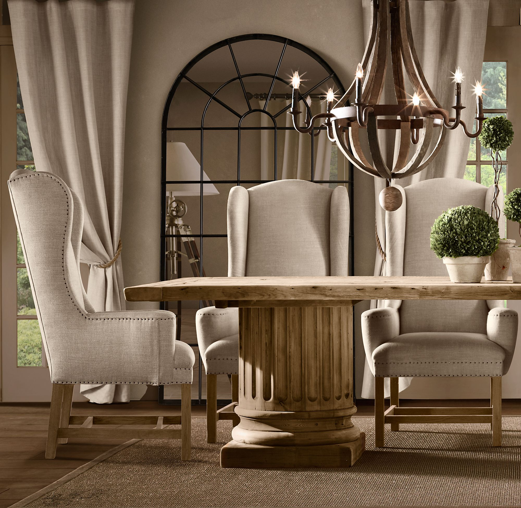 Belfort wingback fabric armchair in 2020 white dining