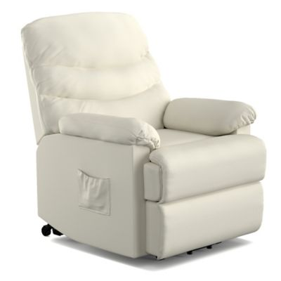 Prolounger Power Lift Renu Leather Recliner Chair In Cream Lift