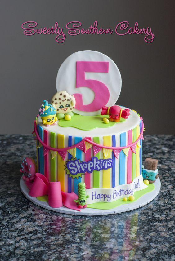 Pasteles para fiestas de shopkins | Cumple, Cumpleaños y Tortilla