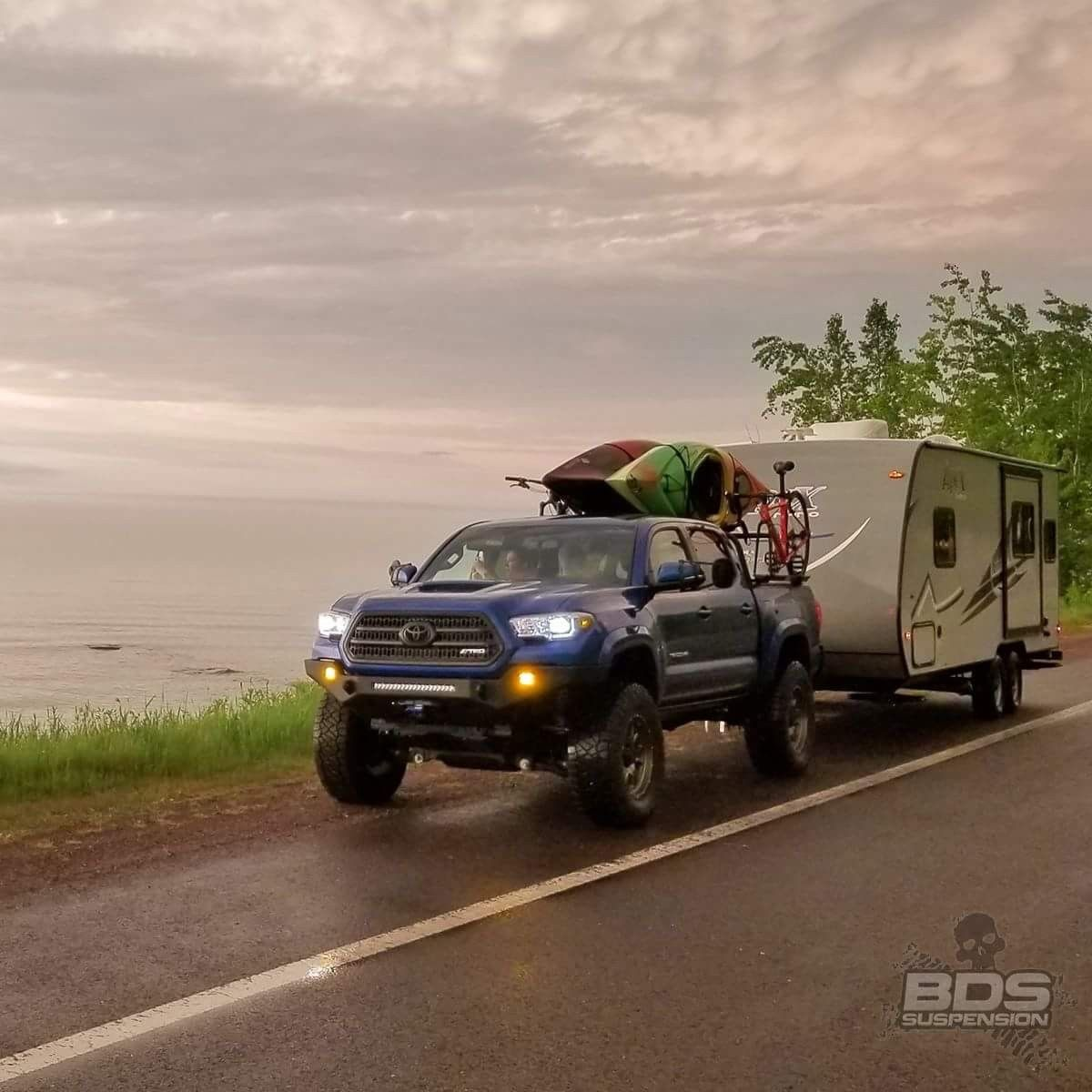 2016 Toyota Tacoma Lifted With Travel Trailer In Tow Toyota
