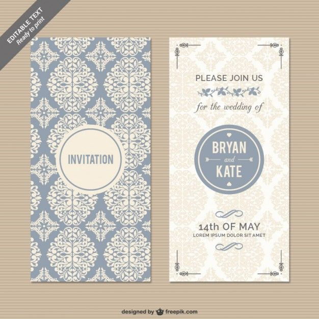 Invitaciones de boda GRATIS, descarga estas plantillas de - plantillas para invitaciones gratis