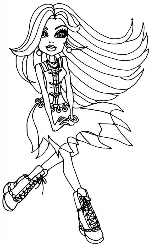 Spectra coloring page monster high | monstruos High Party | Pinterest
