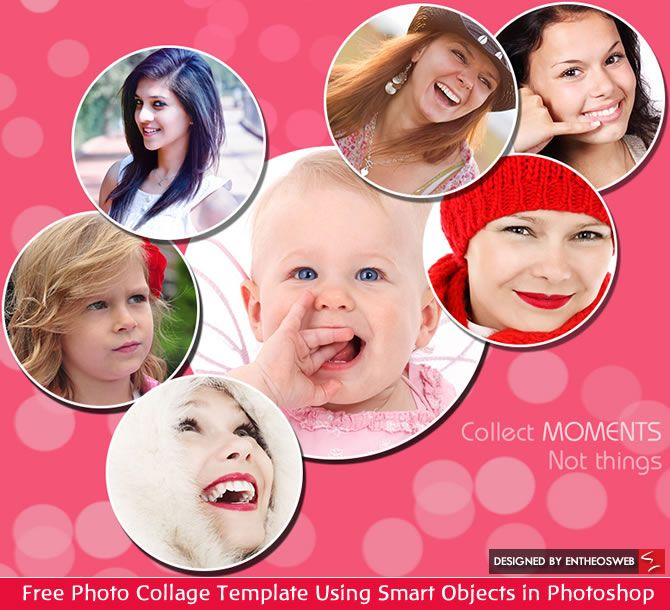 free online photo collage templates - free photo collage template using smart objects in
