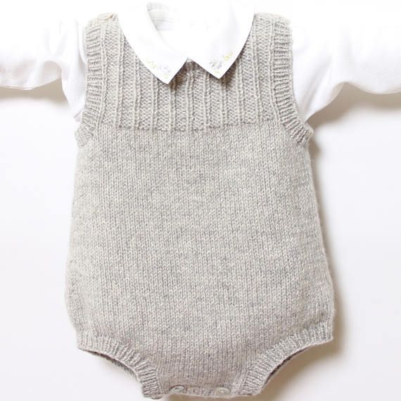 41 / Baby Romper / Knitting Pattern Instructions in English ...