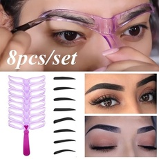 Eyebrow Pattern Stencils Shaper Easy Makeup Shaping Template Beauty Tool Kit 9PC #WINOOM
