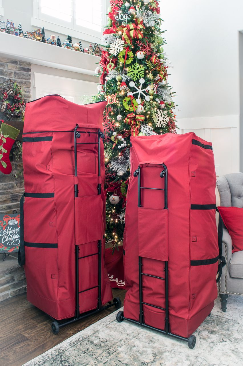 Santa S Bags Expandable Upright 9 12 Ft Christmas Tree Storage Bag Sb 10505 Rs Christmas Tree Storage Christmas Tree Storage Bag 12 Ft Christmas Tree