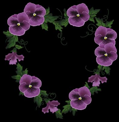 Coeur en pens es aaaaaaalove my heart pinterest coeur pour cr er et cadres - Tatouage pensee fleur ...