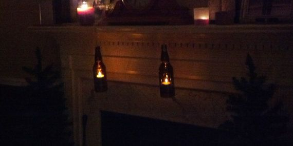 Hanging Beer Bottle Candle Holder by LuvtheWineUrWith on Etsy, $11.00