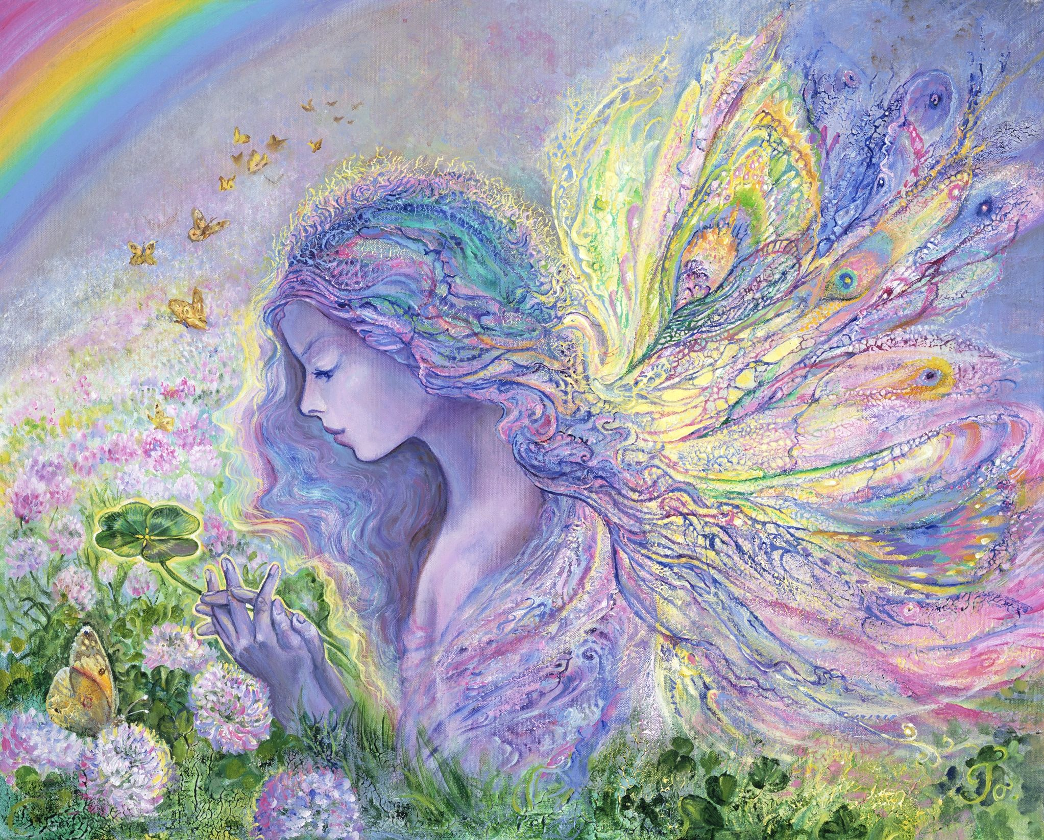Josephine Wall Lucky Josephine Wall Fairy Paintings Fantasy Artist