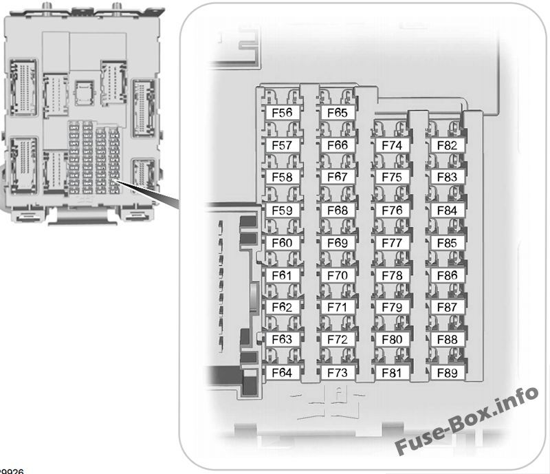 Interior Fuse Box Diagram Ford Transit Connect 2014 2015 2016