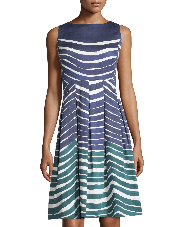 fdc20692617 Lafayette 148 New York Zoe Striped Sleeveless Dress