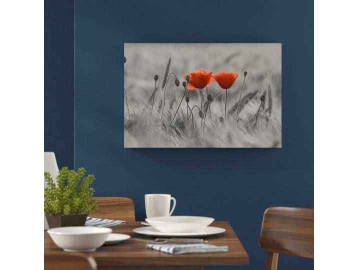 Leinwandbild Mohnblumen Auf Einem Feld Leinwandbilder Leinwandkunst Leinwand