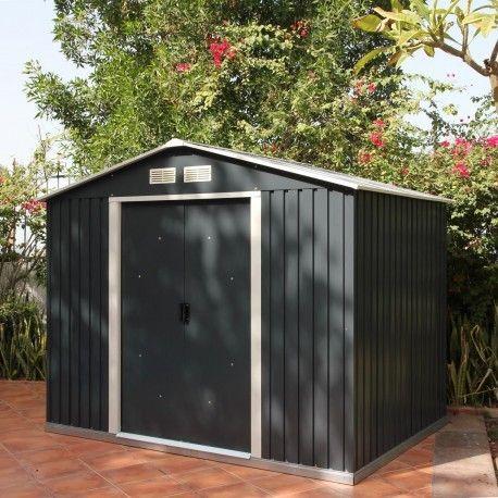 abri de jardin en métal moderne, robuste et économique   www - abris de jardin adossable
