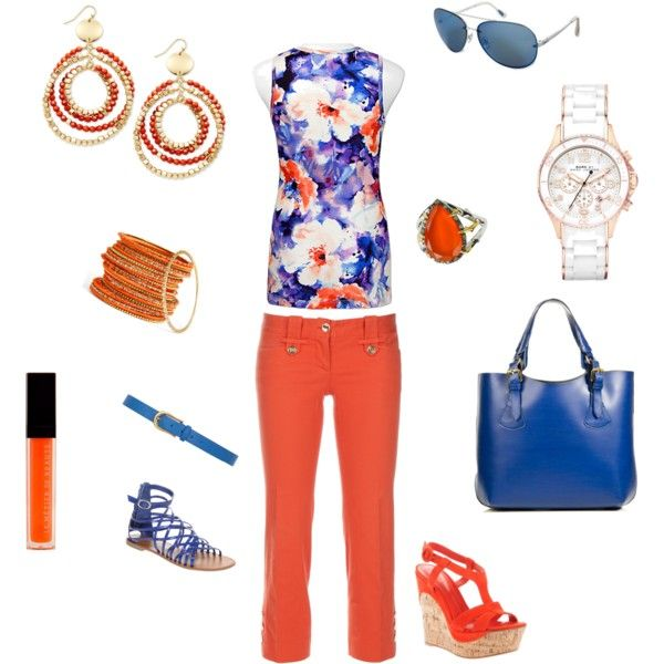 Outfits That Matches Amazing Jake S Color Scheme Spring Inspired Blue Orange Outfit