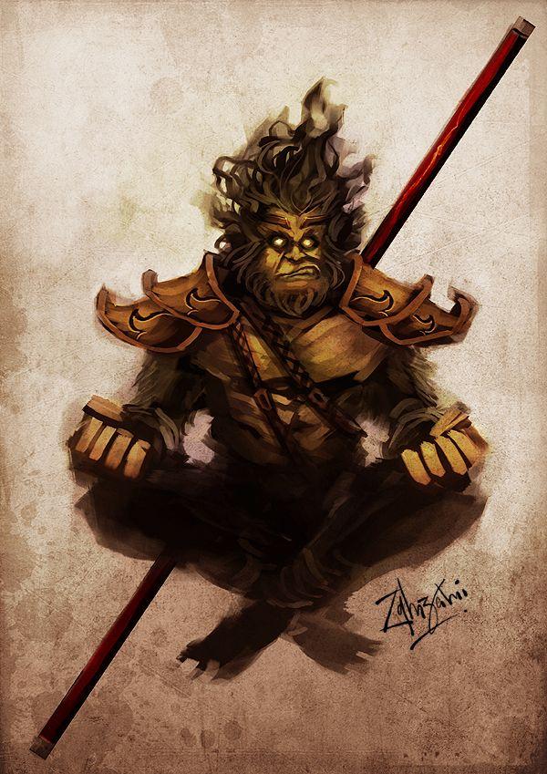 Character Design Hanuman : Monkey king by zamzami on deviantart hanuman sun