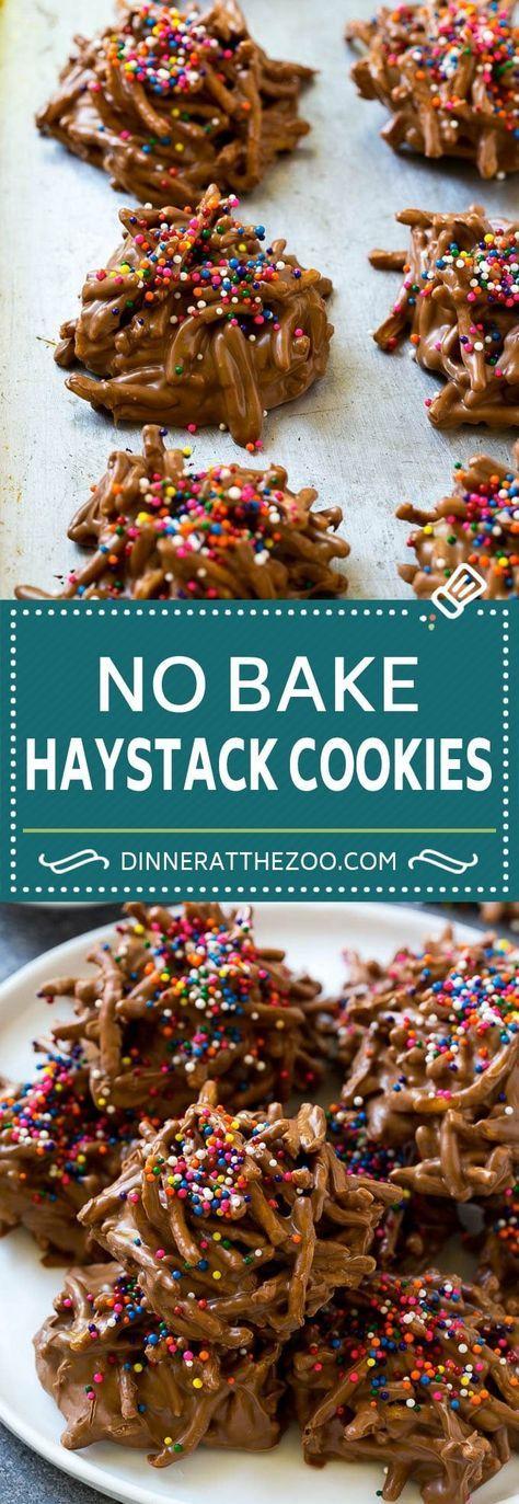 how to make haystack cookies recipe  no bake cookies