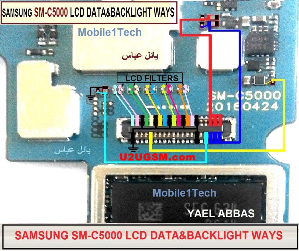 Samsung Galaxy C5 Display Problem Solution Jumper Ways | teknik